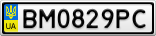 Номерной знак - BM0829PC
