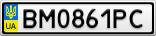 Номерной знак - BM0861PC