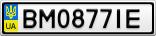 Номерной знак - BM0877IE