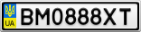 Номерной знак - BM0888XT