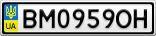 Номерной знак - BM0959OH