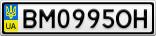 Номерной знак - BM0995OH
