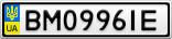 Номерной знак - BM0996IE
