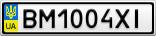 Номерной знак - BM1004XI