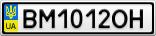 Номерной знак - BM1012OH
