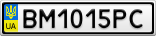 Номерной знак - BM1015PC