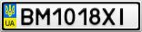 Номерной знак - BM1018XI