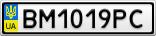 Номерной знак - BM1019PC