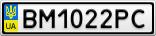 Номерной знак - BM1022PC