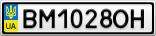 Номерной знак - BM1028OH