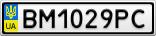 Номерной знак - BM1029PC