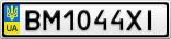 Номерной знак - BM1044XI