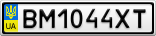 Номерной знак - BM1044XT