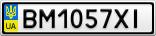 Номерной знак - BM1057XI