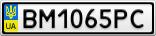 Номерной знак - BM1065PC