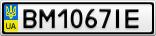Номерной знак - BM1067IE