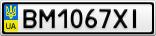 Номерной знак - BM1067XI