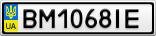 Номерной знак - BM1068IE