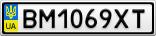 Номерной знак - BM1069XT