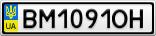 Номерной знак - BM1091OH