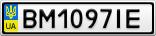 Номерной знак - BM1097IE