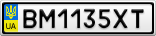 Номерной знак - BM1135XT