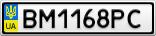 Номерной знак - BM1168PC