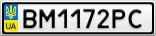 Номерной знак - BM1172PC