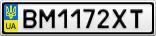 Номерной знак - BM1172XT
