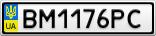 Номерной знак - BM1176PC