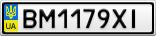 Номерной знак - BM1179XI