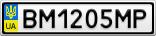 Номерной знак - BM1205MP