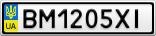 Номерной знак - BM1205XI