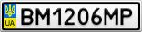 Номерной знак - BM1206MP