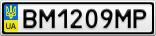 Номерной знак - BM1209MP