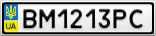 Номерной знак - BM1213PC