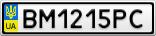 Номерной знак - BM1215PC