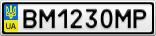 Номерной знак - BM1230MP