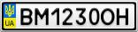 Номерной знак - BM1230OH
