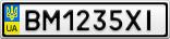 Номерной знак - BM1235XI