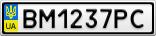 Номерной знак - BM1237PC