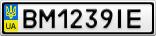 Номерной знак - BM1239IE