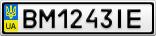 Номерной знак - BM1243IE