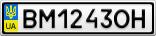 Номерной знак - BM1243OH