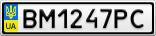 Номерной знак - BM1247PC