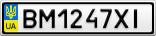 Номерной знак - BM1247XI