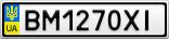Номерной знак - BM1270XI