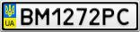 Номерной знак - BM1272PC