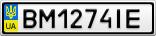 Номерной знак - BM1274IE