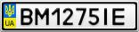 Номерной знак - BM1275IE